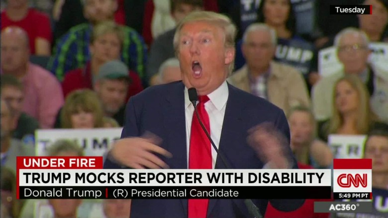 CNN propagated the meme that Trump mocked a disability.