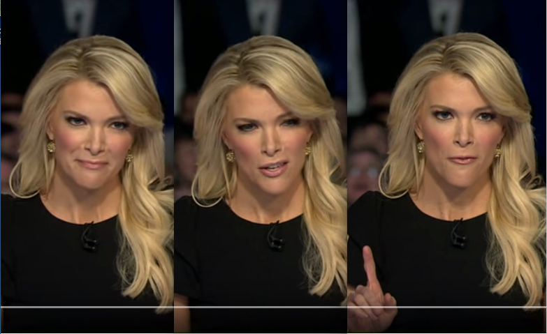 Megyn Kelly asks Donald Trump about women, during the first Republican Debate.
